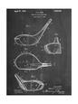 Golf Club Driver Patent Umělecká reprodukce