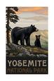 Yosemite National Park BBF Black Bears Fotografisk tryk af Paul A Lanquist
