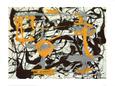 Yellow, Grey, Black Kunsttryk af Jackson Pollock