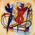 Spontaneous Jam Kunsttryk af Alfred Gockel