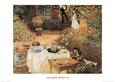 Le Dejeuner Kunsttryk af Claude Monet