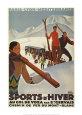 Sports D'hiver Kunsttryk af Roger Broders