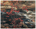 The Red Maple Art Print by A. Y. Jackson