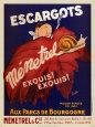 Escargots Menetial Kunsttryk