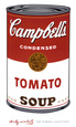 Campbell's Soup I: Tomato, c.1968 Art Print by Andy Warhol