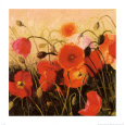 Poppy Party Art Print by Shirley Novak