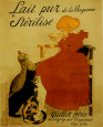 Lait Pur Plakat af Théophile Alexandre Steinlen