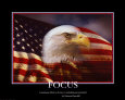 Patriotic Focus Art Print