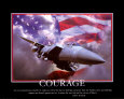 Patriotic Courage Art Print