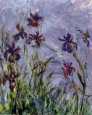 Iris Reproduction d'art par Claude Monet