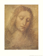 Christ's Head Art Print by Leonardo da Vinci