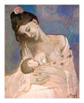 Maternity Lmina por Pablo Picasso