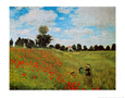 Les coquelicots Reproduction d'art par Claude Monet