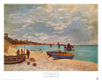 The Beach at Sainte-Adresse (Monet) Posters