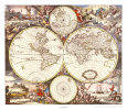 Map of the World Art Print by Joan Blaeu