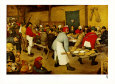 Fête de mariage au village Reproduction d'art par Pieter Bruegel the Elder