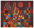 Chteau et soleil Reproduction d'art par Paul Klee