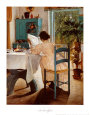 At Breakfast Art Print by Lauritz Ring