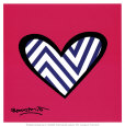 Zig Zag Love Art Print by Romero Britto