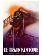 Le Train Fantome Art Print by Paul Colin