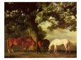 Green Pastures Lmina por George Stubbs