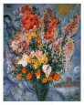 Bouquet de Fleurs Reproduction d'art par Marc Chagall