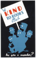 Historic Reading Posters - Be Kind To Books Club Umělecká reprodukce