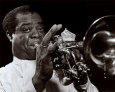 Louis Armstrong Art Print by William P. Gottlieb