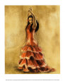 Flamenco Dancer I Art Print by Caroline Gold