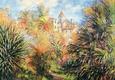 Jardin de Bordighera Kunsttryk af Claude Monet