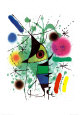 Le poisson chantant Reproduction d'art par Joan Miró