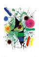 Den syngende fisk  Kunsttryk af Joan Miró