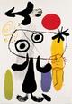 Figura contra sol rojo II, c. 1950 Lámina por Joan Miró