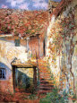 Die Treppe Art Print by Claude Monet