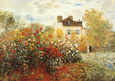 The Artist's Garden in Argenteuil Kunstdruk van Claude Monet