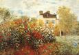 Kunstnerens have i Argenteuil Kunsttryk af Claude Monet