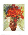 Vase with Daisies and Poppies Kunsttryk af Vincent van Gogh