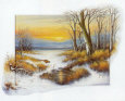 Winter at the Brook Art Print by Johan De Jong