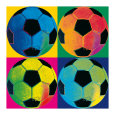 Quatre ballons de football Reproduction d'art