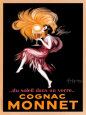 Cognac Monnet Reproduction d'art par Leonetto Cappiello