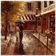 Romantic Stroll Kunsttryk af Brent Heighton