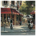 Bistro Waiters Kunsttryk af Brent Heighton
