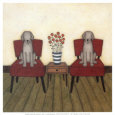 Two Dogs Art Print by Helga Sermat