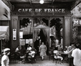 Café de France Reproduction d'art par Willy Ronis