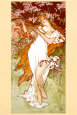 Printemps Reproduction d'art par Alphonse Mucha