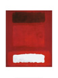 Red, White, Brown Art Print by Mark Rothko