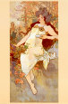 Fall Kunstdruk van Alphonse Mucha