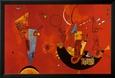 Mit Und Gegen Lamine Çerçeveli Poster ilâ Wassily Kandinsky