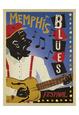 Memphis Blues Festival Sanatsal Reprodüksiyon ilâ Anderson Design Group