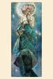 Ay (The Moon) Poster ilâ Alphonse Mucha